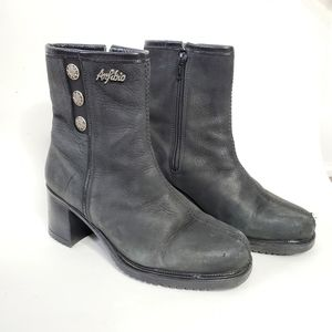 Anfibio black waterproof leather boots